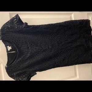 Black J Crew Lace Dress